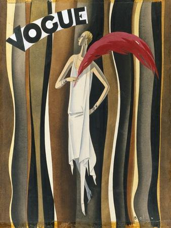 Vogue - November 1927-William Bolin-Mounted Premium Giclee Print
