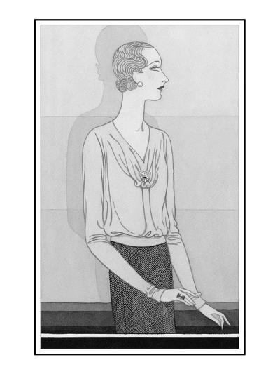 Vogue - November 1929-Douglas Pollard-Premium Giclee Print