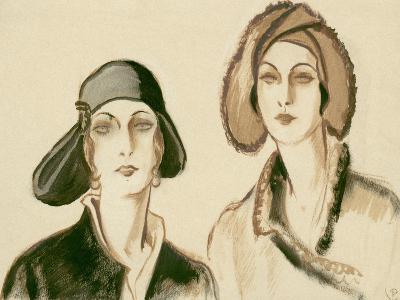 Vogue - November 1929-Porter Woodruff-Premium Giclee Print
