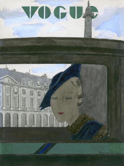 Vogue - November 1932-Pierre Mourgue-Premium Giclee Print