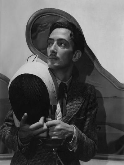 Vogue - November 1936 - Salvador Dali with Fencing Helmet-Cecil Beaton-Premium Photographic Print
