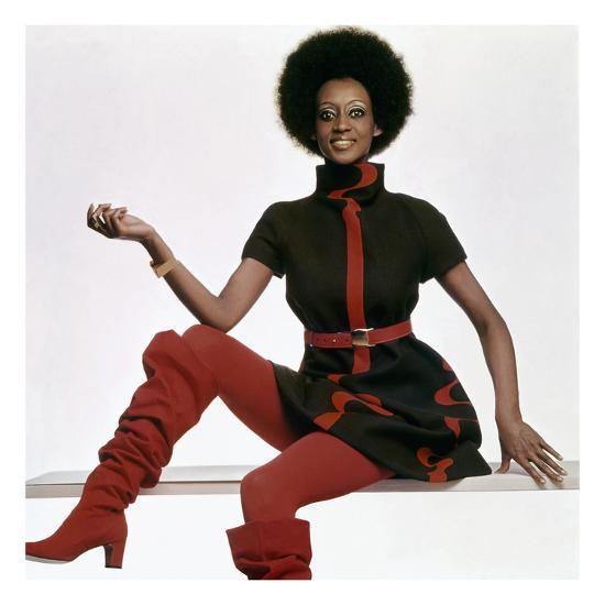 Vogue - November 1969 - Bill Blass Turtleneck Dress-Gianni Penati-Premium Photographic Print