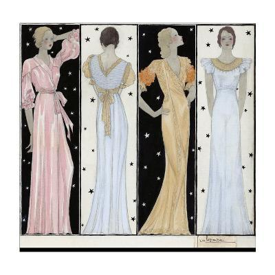 Vogue - October 1932-Georges Lepape-Premium Giclee Print