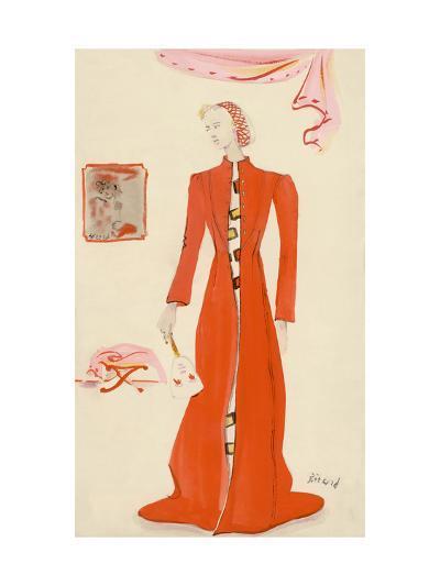 Vogue - October 1935-Christian Berard-Premium Giclee Print