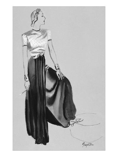 Vogue - October 1937-R.S. Grafstrom-Premium Giclee Print