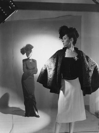 Vogue - October 1944 - Fashions from Bergdorf Goodman-Cecil Beaton-Premium Photographic Print