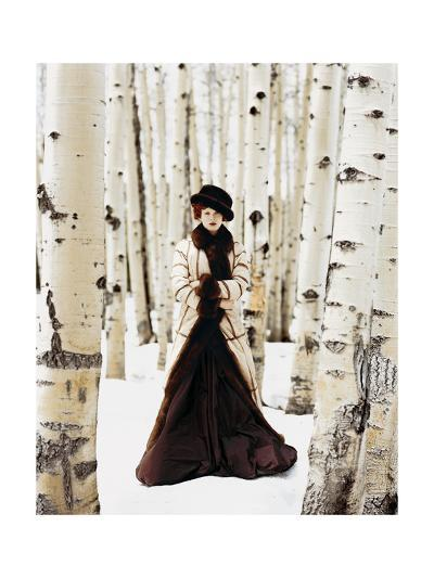 Vogue - October 1999 - Winter Among the Trees-Arthur Elgort-Premium Photographic Print