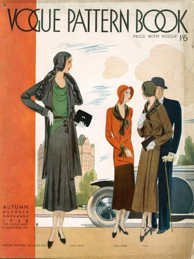 Vogue Pattern Book Cover, UK, 1930--Giclee Print