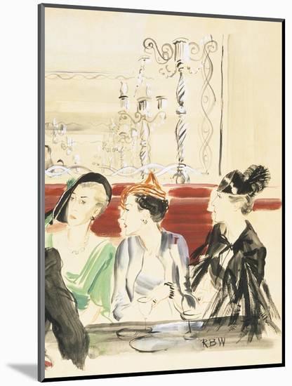 Vogue - September 1934-Ren? Bou?t-Willaumez-Mounted Premium Giclee Print