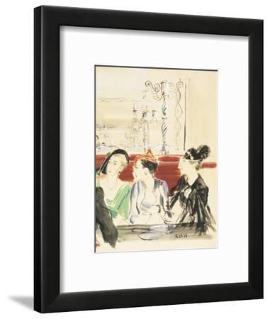 Vogue - September 1934-René Bouét-Willaumez-Framed Premium Giclee Print