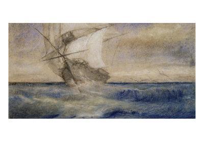Voilier dans la tempête-Charles Meryon-Giclee Print