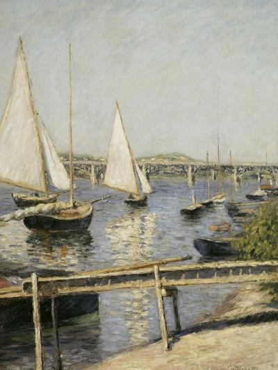 Voiliers à Argenteuil-Gustave Caillebotte-Giclee Print