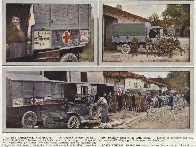 Voiture Ambulance Americaine, Un Camion Sanitaire Americain, Poste Central Americain-Jules Gervais-Courtellemont-Photographic Print