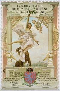 Exposition Generale Du Royaume Di Boheme a Prague En 1891 Poster by Vojtech Hynais