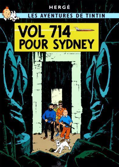 Vol 714 pour Sydney, c.1968-Herg? (Georges R?mi)-Art Print
