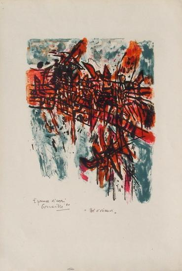 Vol d'oiseaux à cinq heure-Guillaume Corneille-Limited Edition