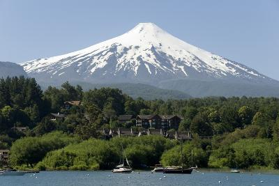 Volcan Villarrica and Lao Villarrica at Pucon, Lakes District, Southern Chile, South America-Tony-Photographic Print