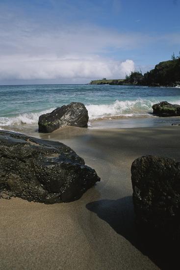 Volcanic Beach Rocks Along the West Coast of Maui-Marc Moritsch-Photographic Print