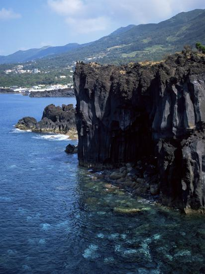 Volcanic Coastline, Island of Sao Jorge, Azores, Portugal, Atlantic-David Lomax-Photographic Print