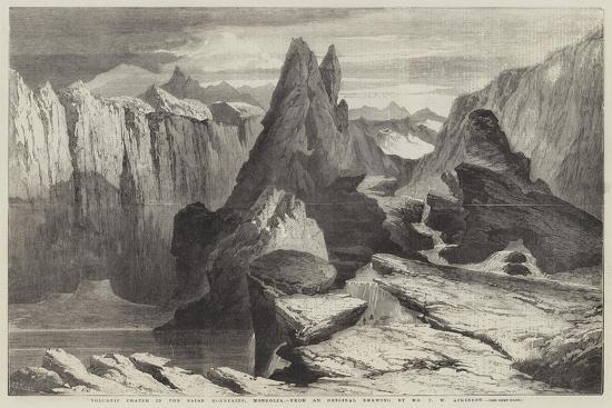 Volcanic Crater in the Saian Mountains, Mongolia-Richard Principal Leitch-Giclee Print
