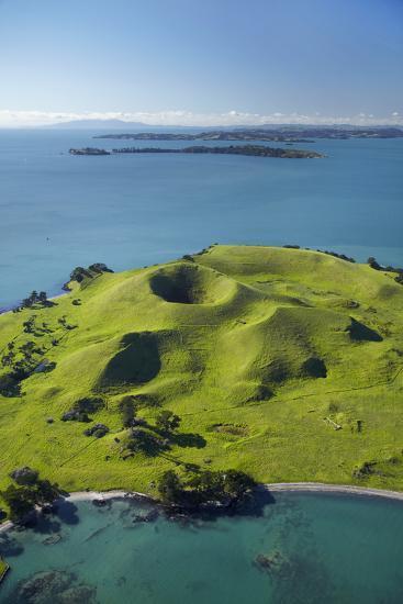 Volcanic Craters On Browns Island Or Motokorea Hauraki