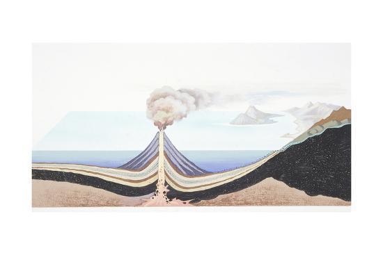 Volcanic Eruption at Sea--Giclee Print