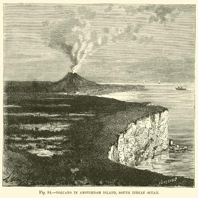 Volcano in Amsterdam Island, South Indian Ocean--Giclee Print