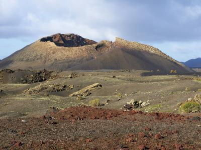 Volcano, Timanfaya National Park, Lanzarote, Canary Islands, Spain, Europe--Photographic Print