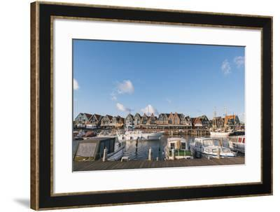 Volendam Harbour, North Holland Province, the Netherlands (Holland), Europe-Mark Doherty-Framed Photographic Print