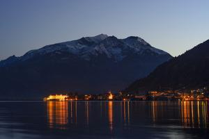 Zeller See Lake with View at Zell Am See and Hohe Tauern, Austria, Salzburg, Pinzgau by Volker Preusser