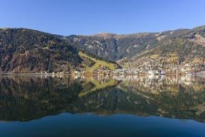 Zeller See Lake with View at Zell Am See, Austria, Salzburg, Pinzgau, Zell Am See by Volker Preusser