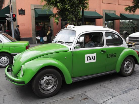 Volkswagen Taxi Cab, Mexico City, Mexico, North America Photographic Print  by Wendy Connett | Art com