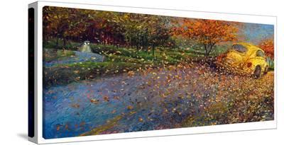Volkswagen Yellow-Iris Scott-Gallery Wrapped Canvas