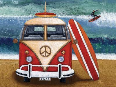 Volkswagon Surfboard-Peter Adderley-Art Print