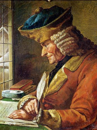 Voltaire (1694-1778) in His Study--Giclee Print