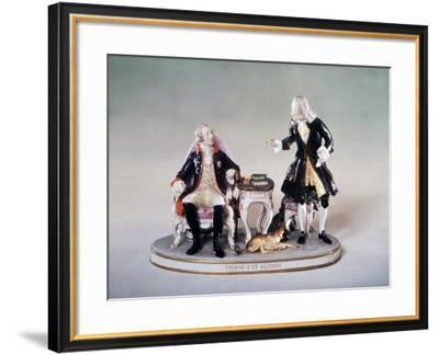 Voltaire and Frederick the Great, 1780S--Framed Giclee Print