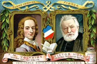 Voltaire and Victor Hugo, C1900--Giclee Print