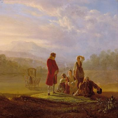 Voltaire Conversing with the Peasants in Ferney-Jean Huber-Giclee Print