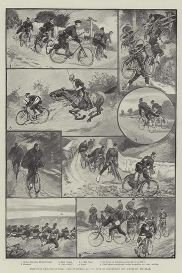 Volunteer Cyclists at Work-Sir Frederick William Burton-Giclee Print