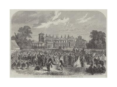 Volunteer Festival at Grimston Park, Yorkshire, the Seat of Lord Londesborough--Giclee Print