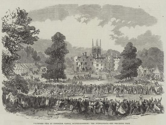 Volunteer Fete at Conington Castle, Huntingdonshire, the Hurdle-Race--Giclee Print