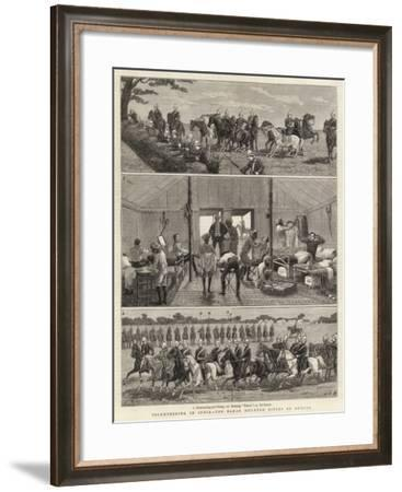 Volunteering in India, the Bahar Mounted Rifles of Bengal-John Charles Dollman-Framed Giclee Print