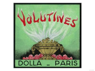 Volutines Perfume Label - Paris, France-Lantern Press-Art Print