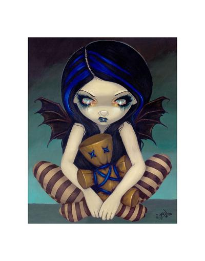 Voodoo In Blue-Jasmine Becket-Griffith-Art Print