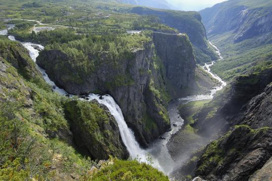 Voringfoss Waterfall, Near Eidfjord, Hordaland, Norway, Scandinavia, Europe-Gary Cook-Photographic Print