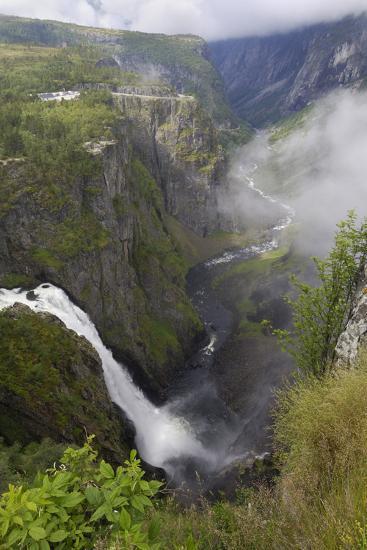 Voringfoss Waterfall, Near Eidfjord, Hordaland, Norway, Scandinavia, Europe-Gary Cook-Photographic Print