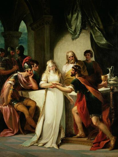 Vortigern and Rowena, 1793-William Hamilton-Giclee Print