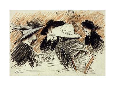 Vos Chapeux: Ladies at the Ritz, New York-Paul Cesar Helleu-Giclee Print