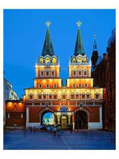 Voskressensky Gate to the Red Square, Moscow, Russia--Art Print