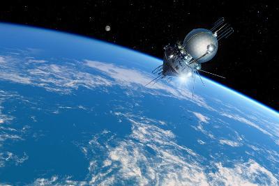 Vostok 1 Orbiting the Earth, 1961-Detlev Van Ravenswaay-Photographic Print